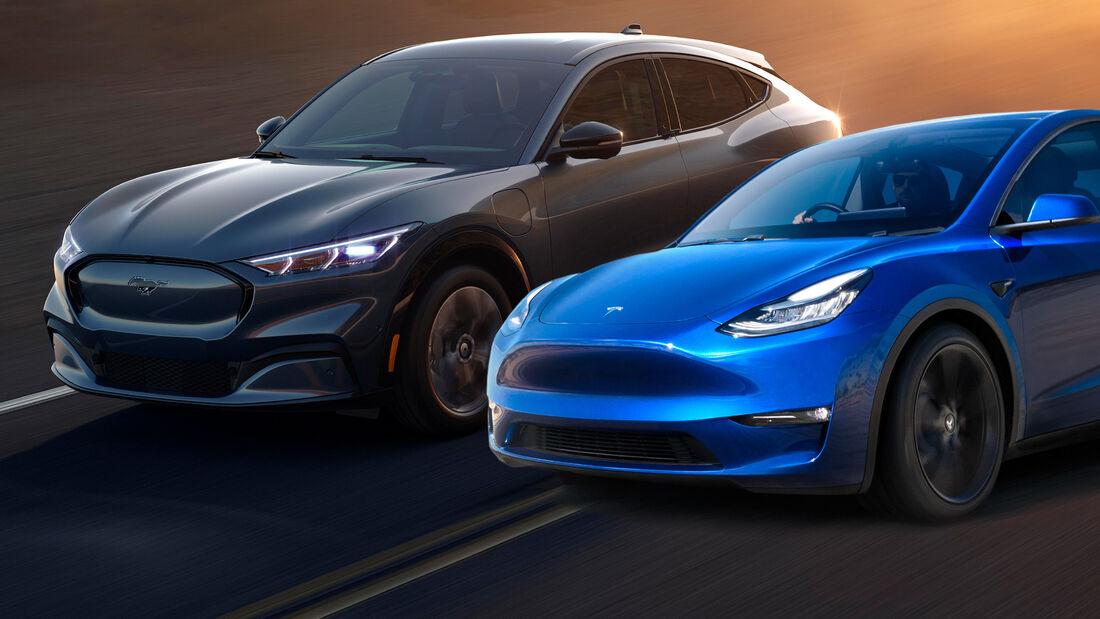 Ford Mustang Mach E Tesla Model Y Vergleich