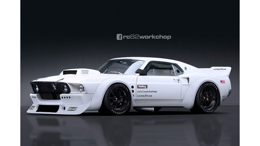 Ford Mustang - Rennversion - Photoshop