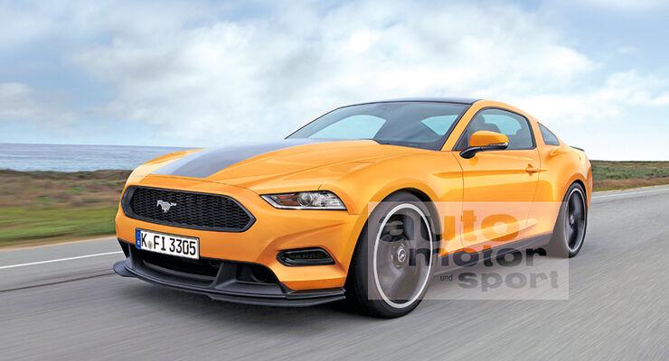 Ford Mustang Retusche