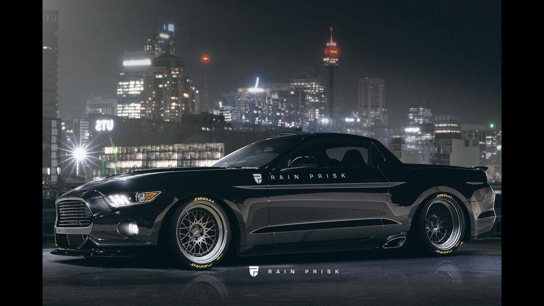 Ford Mustang Ute - Design-Konzept - Grafikkünstler Rain Prisk
