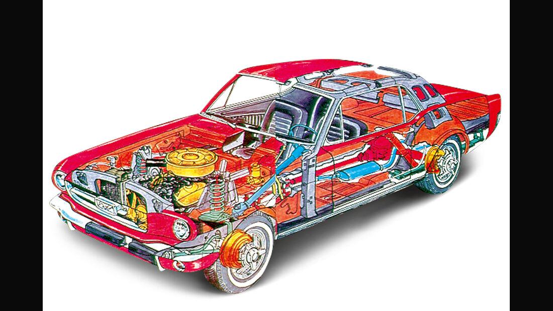Ford Mustang V8, Durchsicht