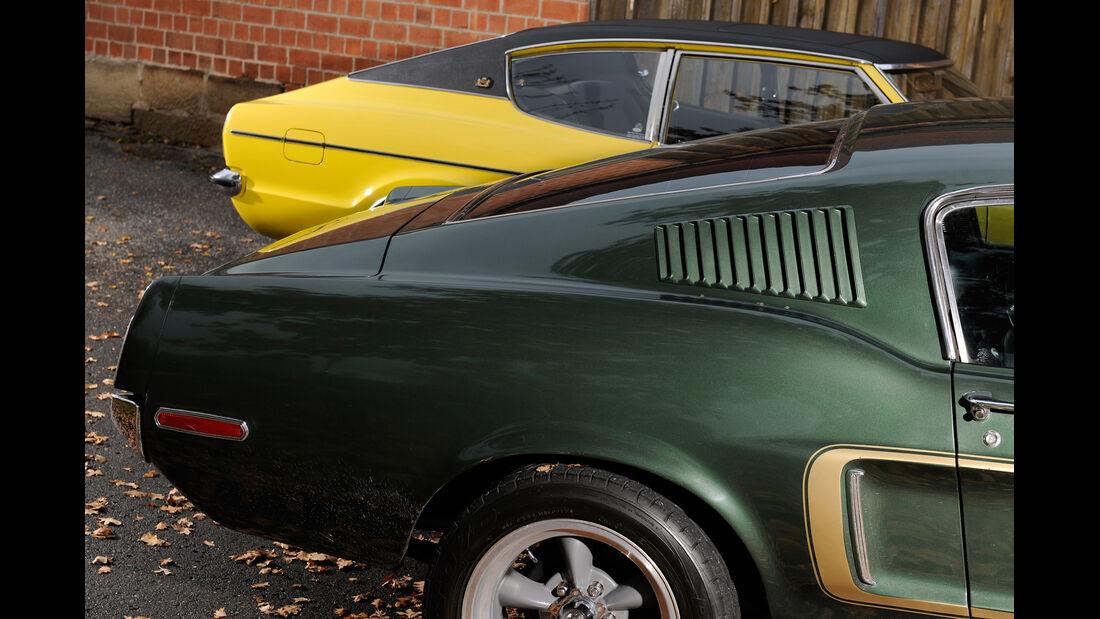 Ford Mustang V8, Ford Taunus 2300 GXL, Heck