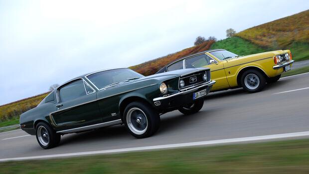 Ford Mustang V8, Ford Taunus 2300 GXL, Seitenansicht