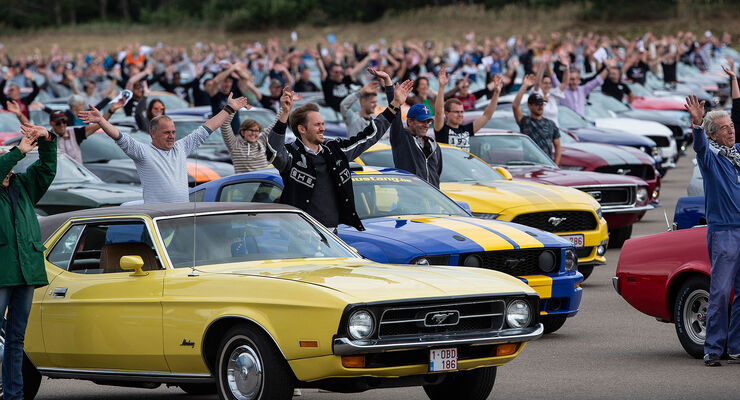 Ford Mustang Weltrekord Lommel Halde Neuzulassungen