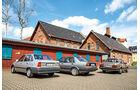 Ford Orion 1.6 GL, Opel Kadett 1.6i, VW Jetta 1.8, Heckansicht