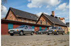 Ford Orion 1.6 GL, Opel Kadett 1.6i, VW Jetta 1.8, Seitenansicht
