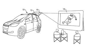 Ford Patent, Projektor in Heckklappe