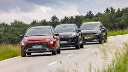 Ford Puma 1.0 EB Hybrid, Hyundai Bayon 1.0 T-GDI Hybrid, Kia Stonic 1.0 T-GDI 120, Exterieur