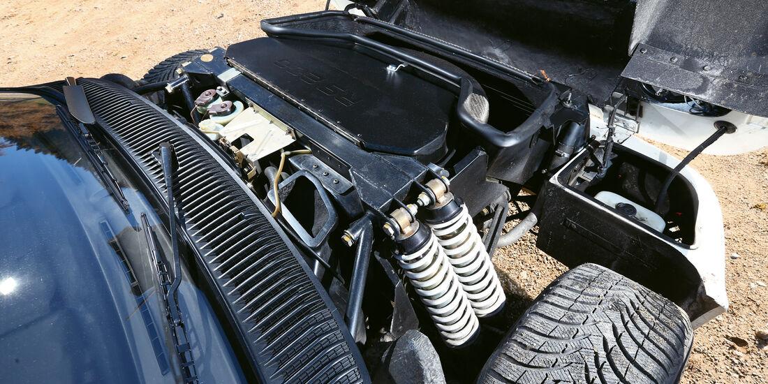 Ford RS 200, Federbeine, Motorhaube