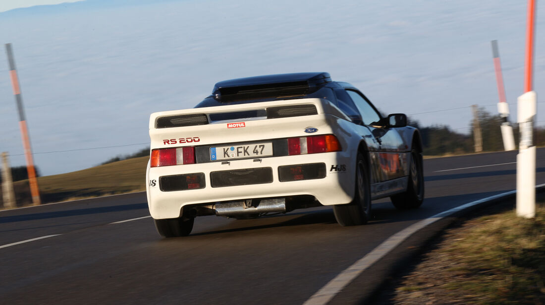 Ford RS 200, Heckansicht