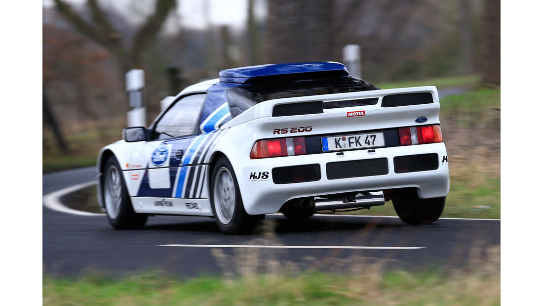 Ford RS200, Heckansicht