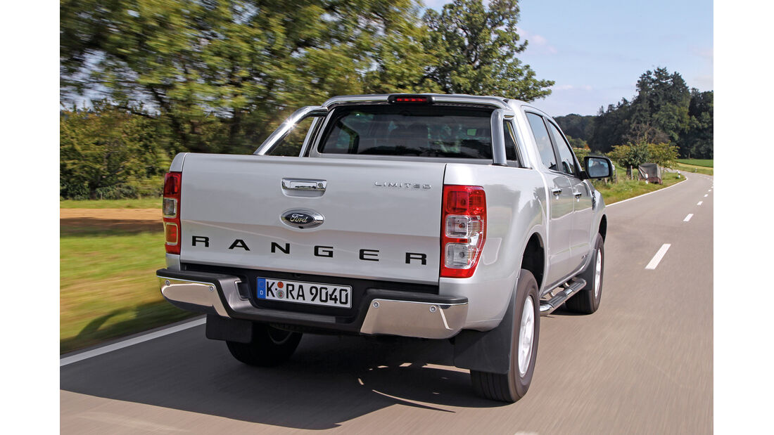 Ford Ranger 2.2 TDCi Doppelkabine Limited, Heckansicht