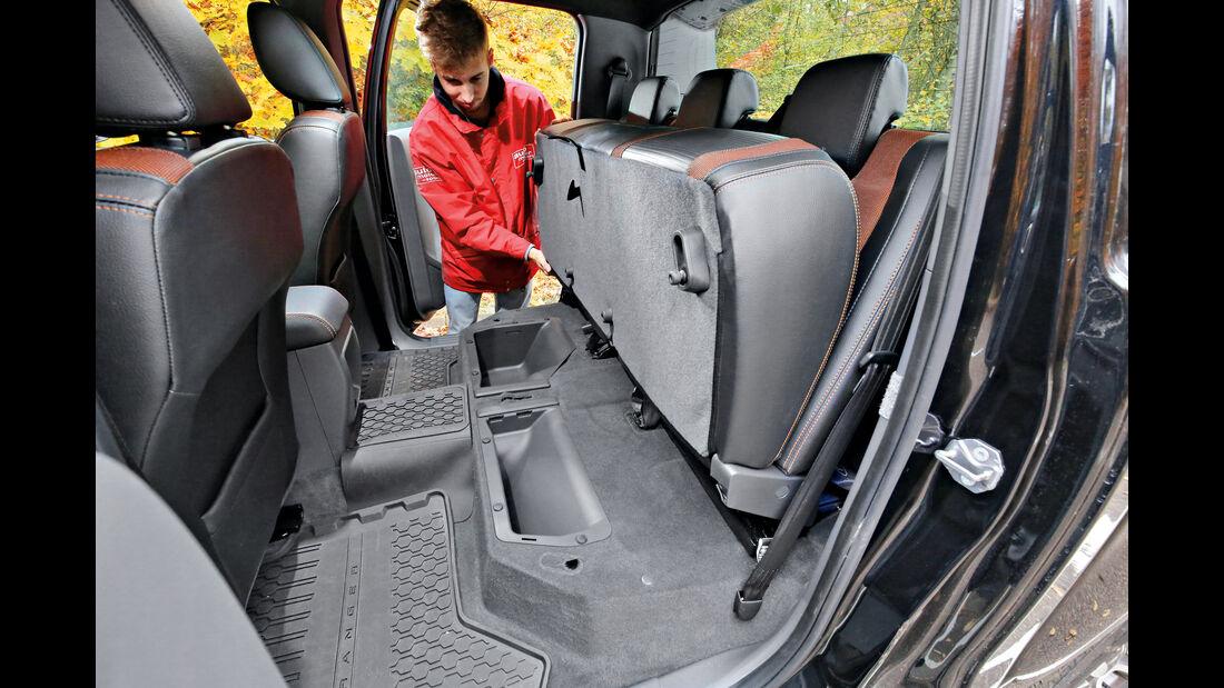 Ford Ranger 3.2 TDCi, Fondsitze, Umklappen