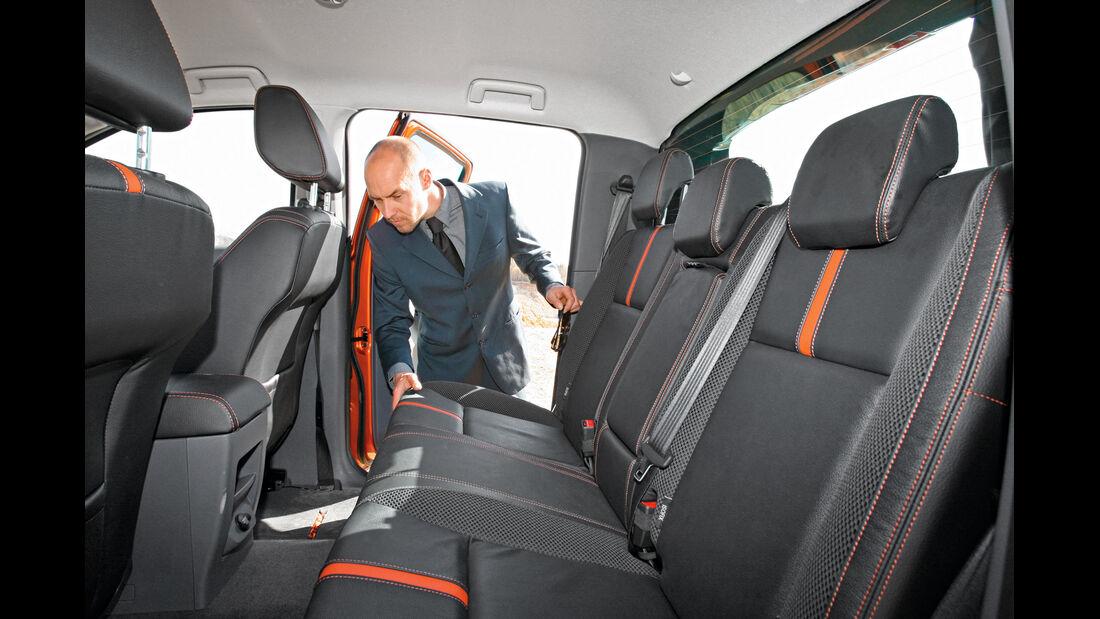Ford Ranger 3.2 TDCi Wildtrak, Rückbank, Kopffreiheit