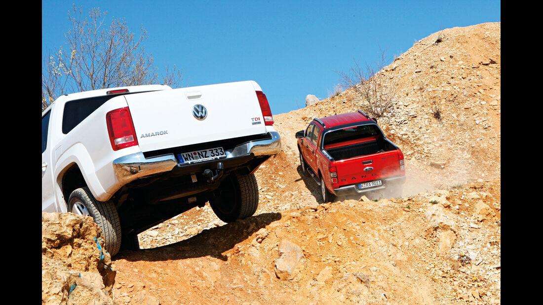 Ford Ranger 3.2 TDCi Wildtrak, VW Amarok 2.0 BiTDI Highline, Heck