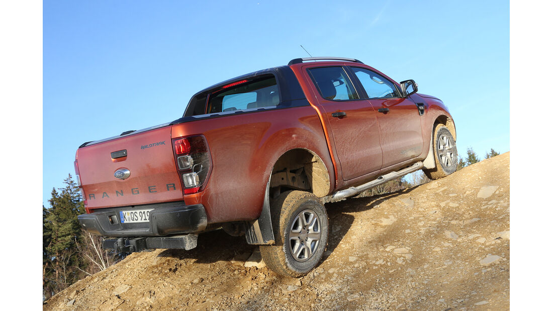 Ford Ranger Wildtrak, Heckansicht