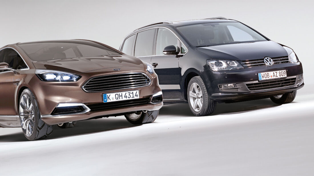 Ford S-MAX, VW Sharan, Frontansicht
