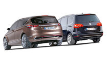 Ford S-MAX, VW Sharan, Heckansicht