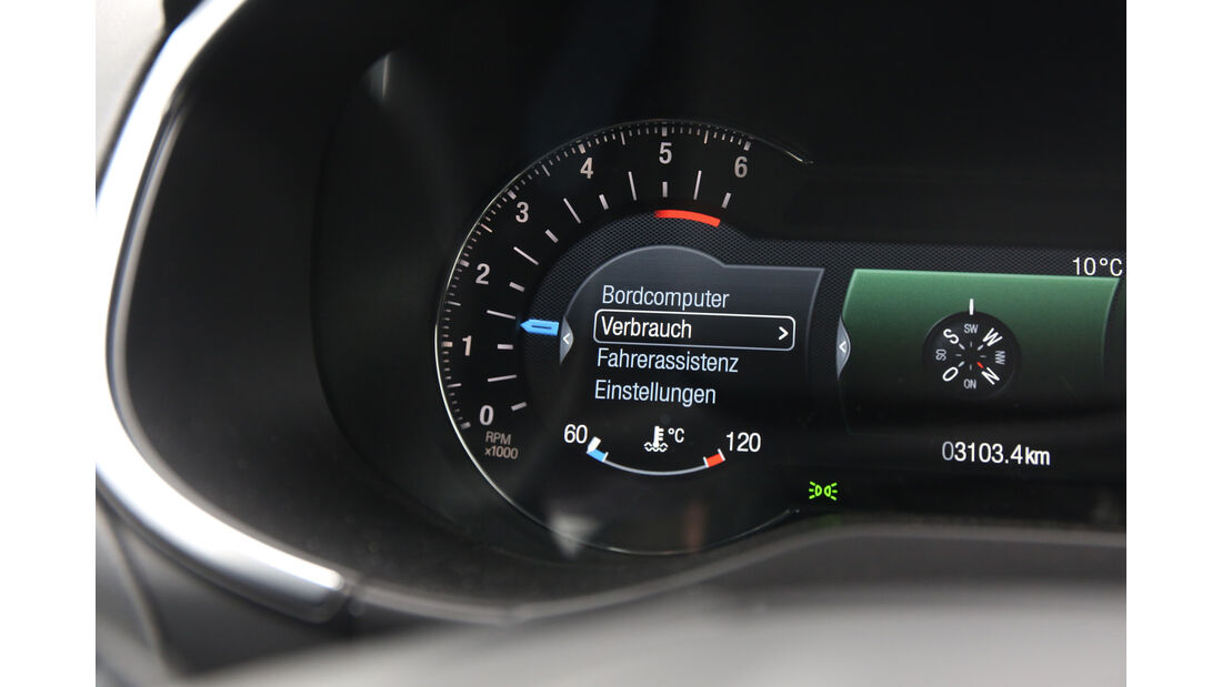 Ford S-Max 2.0 TDCI, Anzeigeinstrument