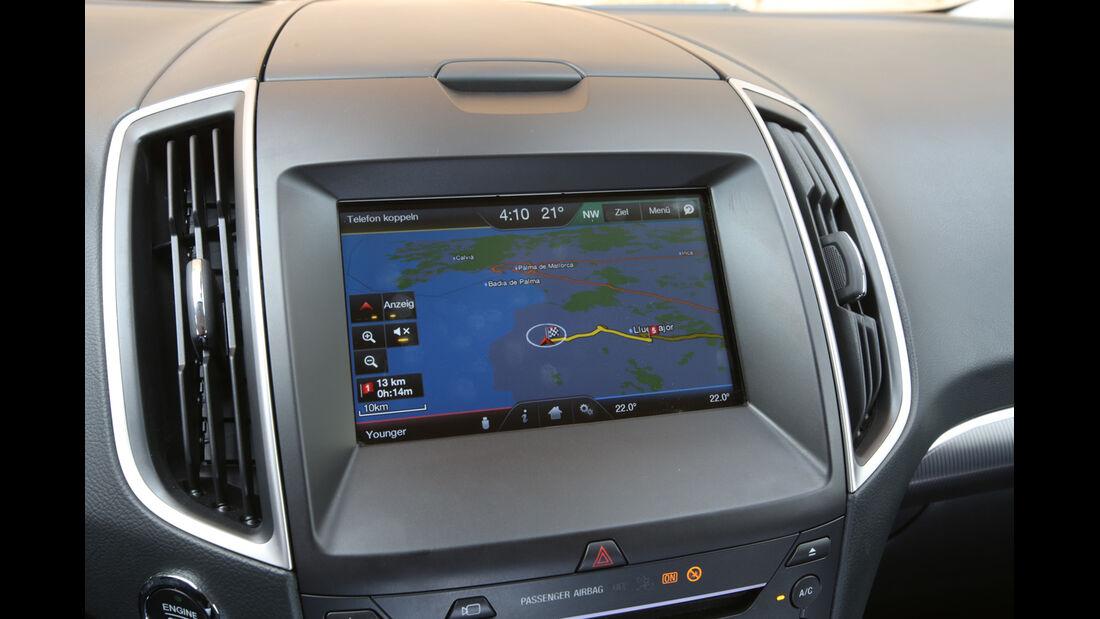 Ford S-Max 2.0 TDCi, Bildschirm, Infotainment