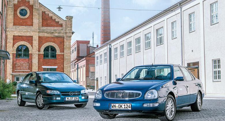 Ford Scorpio Mk2 2.9I, Opel Omega B Mv6, Frontansicht