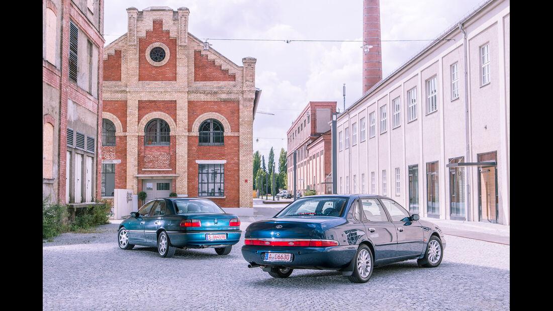 Ford Scorpio Mk2 2.9I, Opel Omega B Mv6, Heckansicht