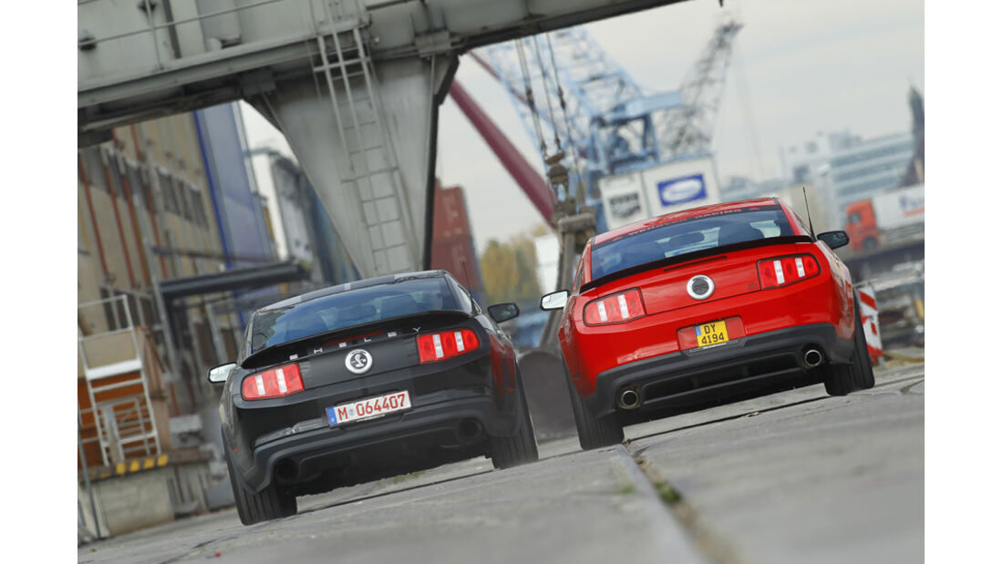 Ford Shelby GT500, Ford Mustang RTR, Heck
