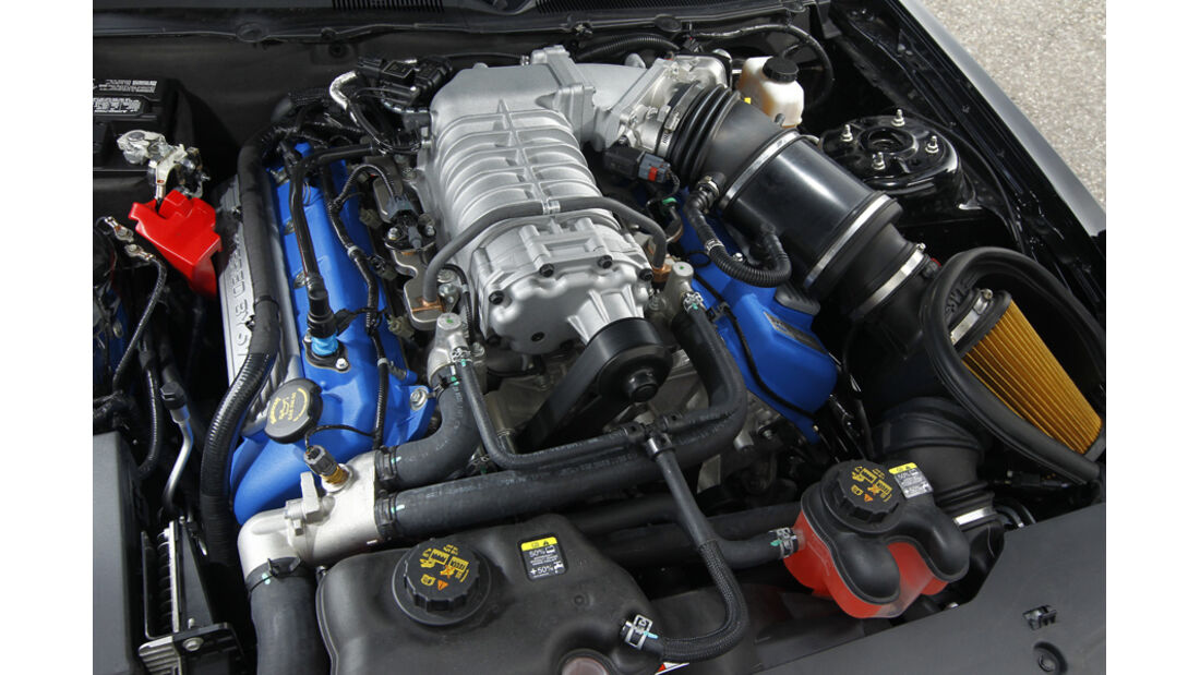 Ford Shelby GT500, Motorraum