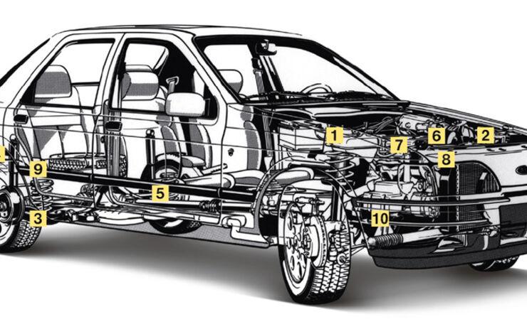 Ford Sierra 2.0i LX, Igelbild, Schwachstellen