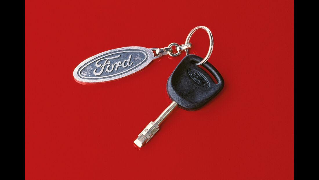 Ford Sierra, Zündschlüssel