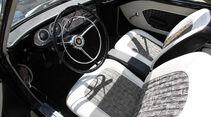 Ford Taunus 17 M P3, Fahrersitz, Lenkrad