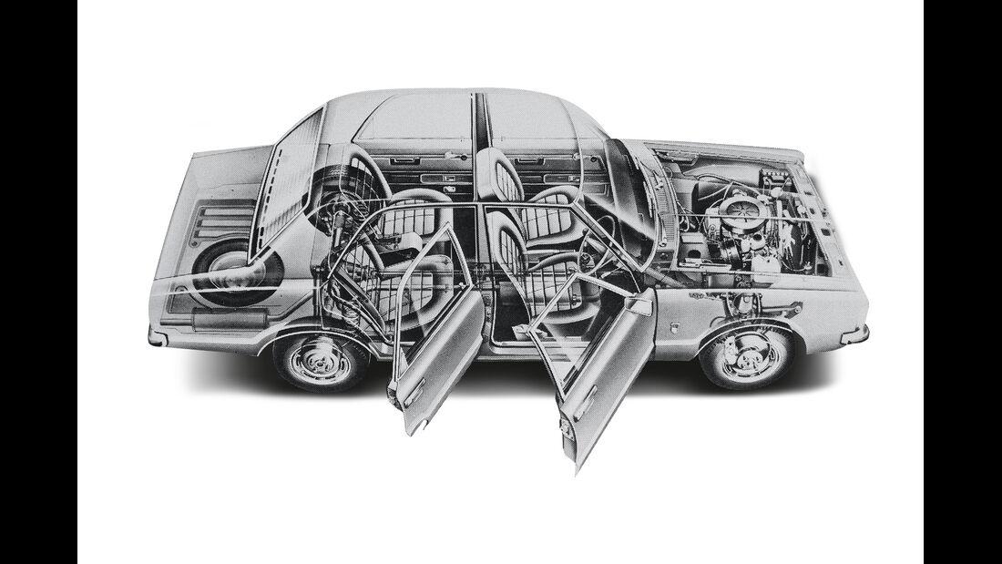 Ford Taunus 2300 GXL, Durchsicht