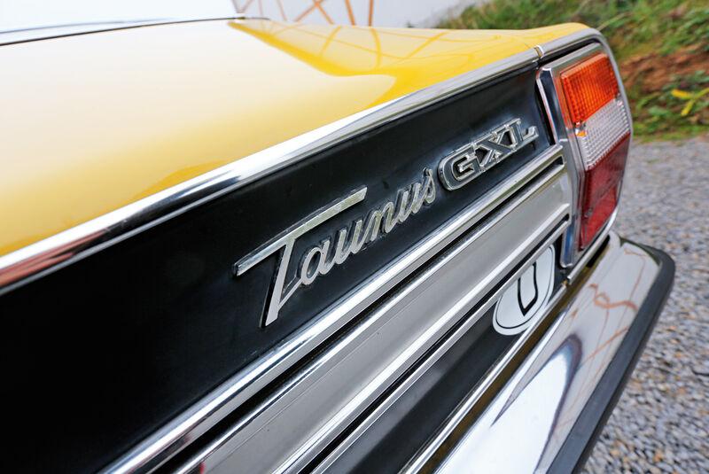 Ford Taunus 2300 GXL, Heck, Typenbezeichnung