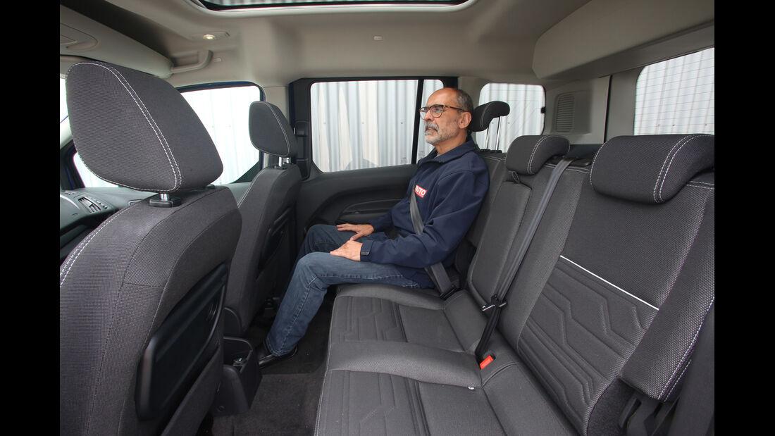 Ford Tourneo Connect 1.0 Ecoboost, Fondsitz, Beinfreiheit