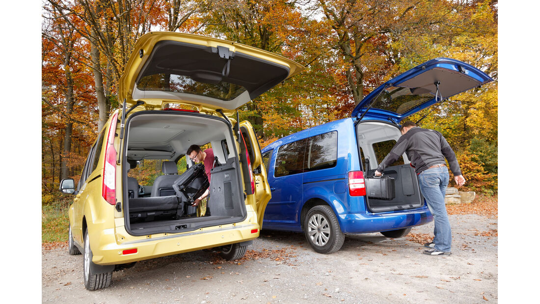 Ford Tourneo Connect, VW Caddy, Heckklappe