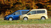 Ford Tourneo Connect, VW Caddy, Seitenansicht