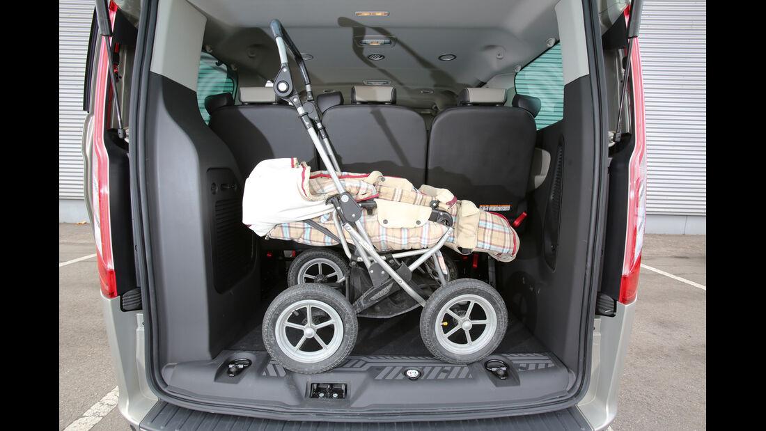 Ford Tourneo Custom, Kofferraum