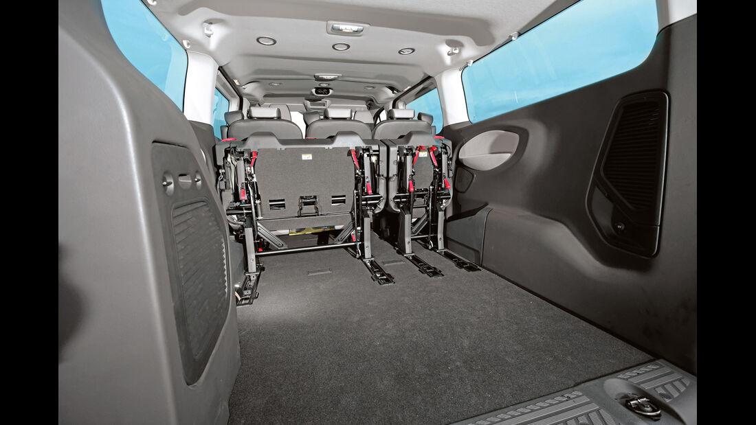 Ford Tourneo Custom, Ladefläche