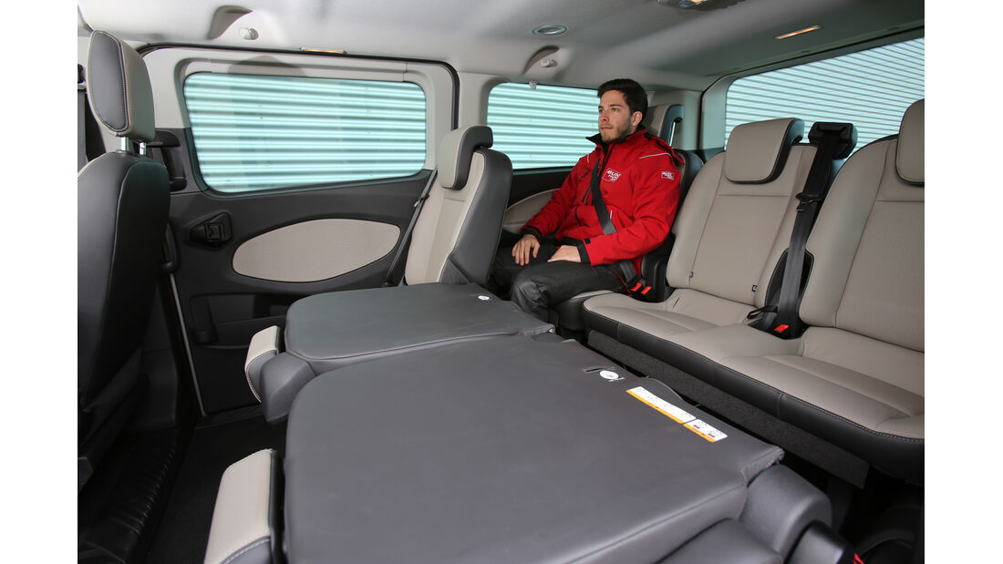 Ford Tourneo Custom, Rücksitz, Innenraum