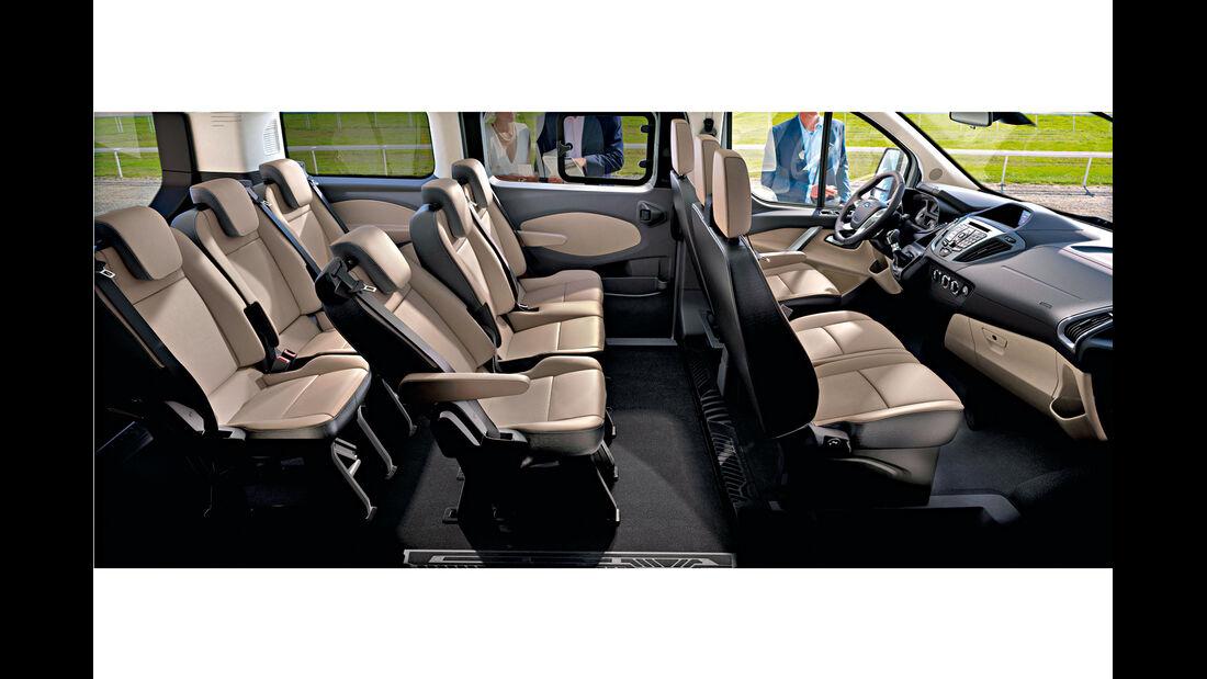 Ford Tourneo Custom, Sitze, Sitzreihen
