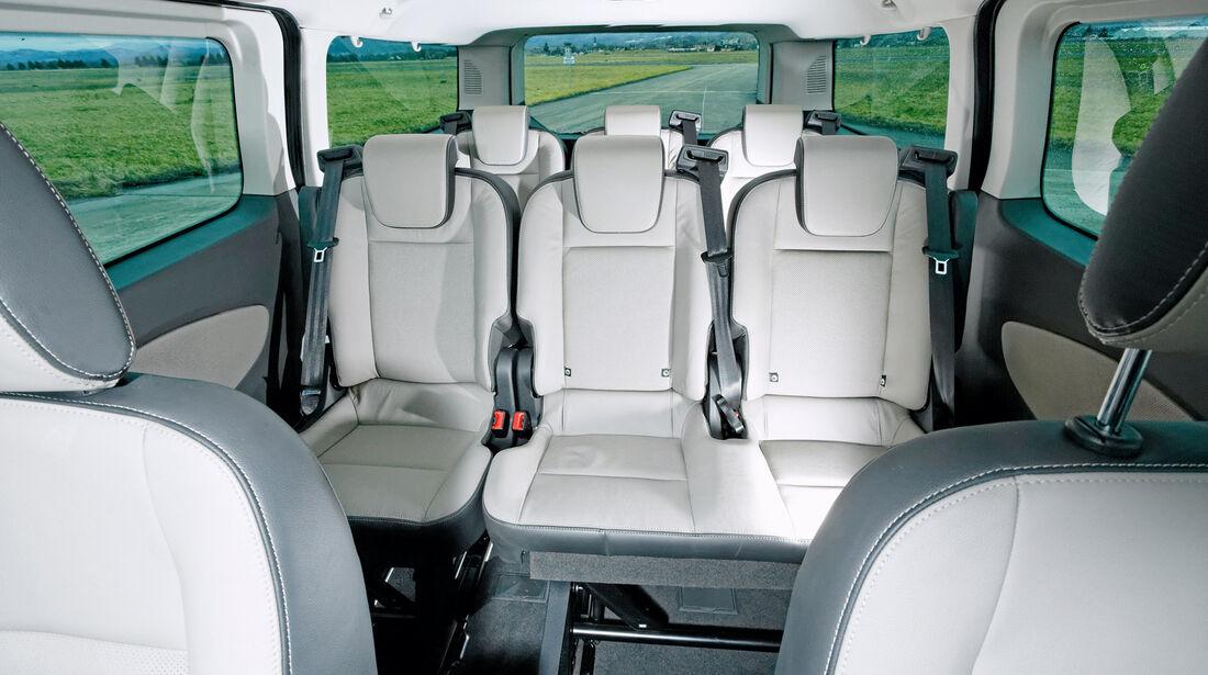 Ford Tourneo Custom, Sitze