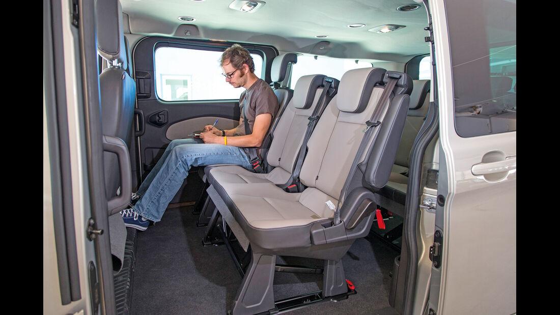 Ford Tourneo Custom, Stuhl verstellen