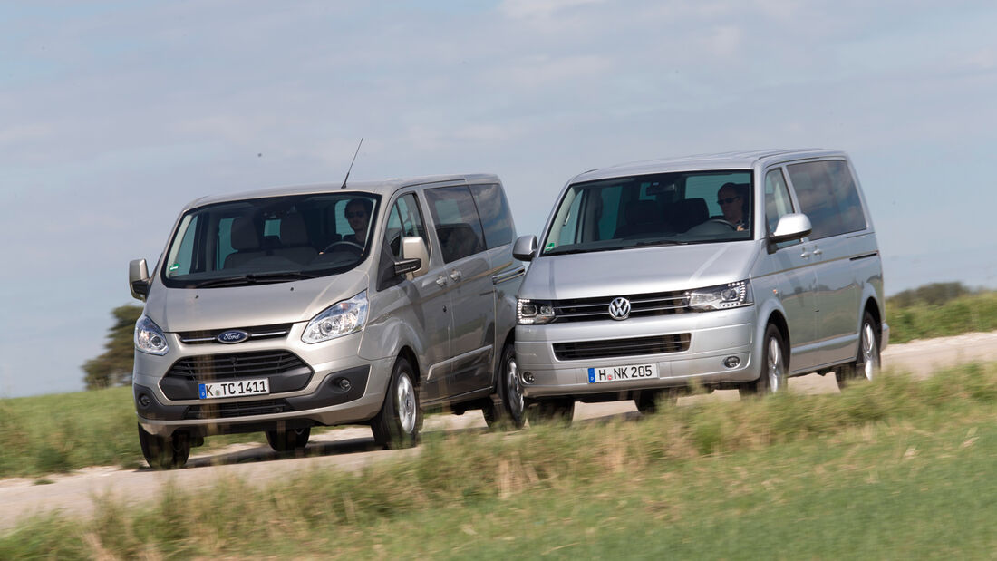 Ford Tourneo Custom, VW Multivan, Frontansicht