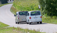 Ford Tourneo Custom, VW Multivan, Heckansicht