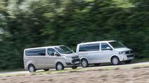 Ford Tourneo Custom, VW Multivan, Seitenansicht