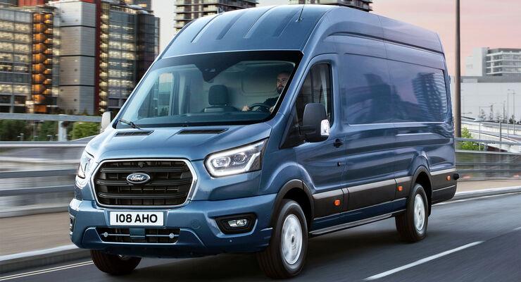 Ford Transit Weltpremiere Transporter Mit Hybridantrieb Auf Der Iaa