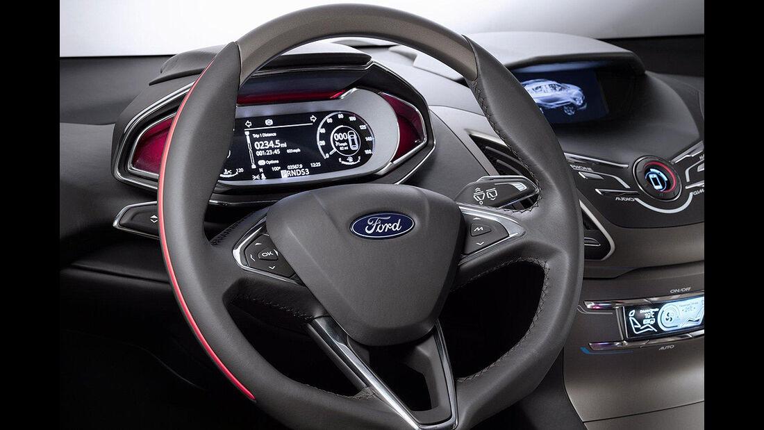 Ford Vertrek Concept, Innenraum, Cockpit, Lenkrad