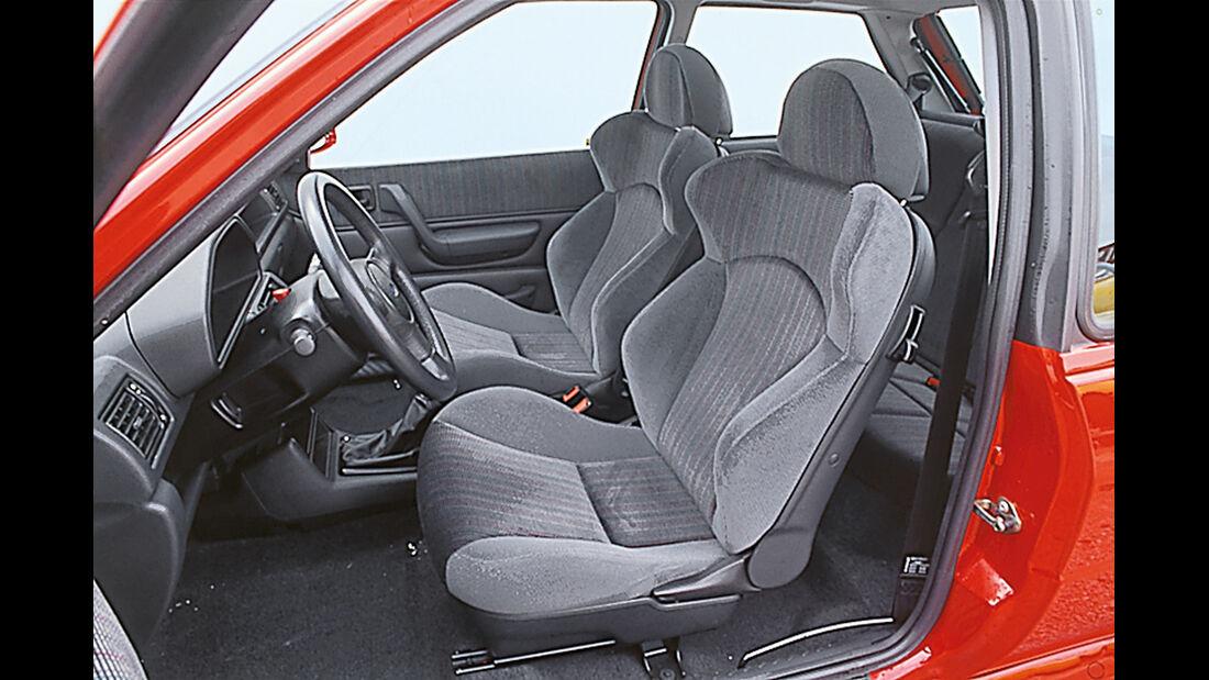Ford XR2i 16V, Interieur, Sitze, Cockpit