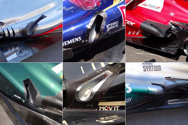 Formel 1 Auspuff Collage 2012
