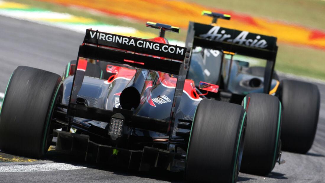 Formel 1-Autos Heckansicht